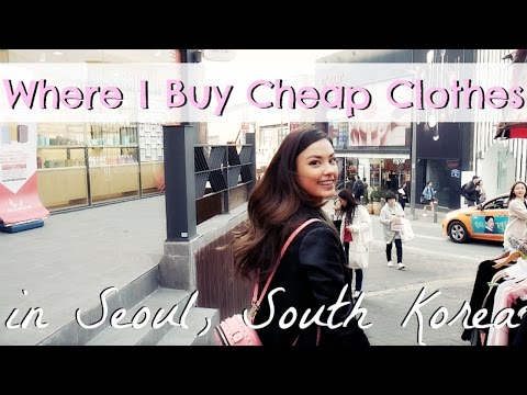 Where I Buy Cheap, Trendy Clothes in Korea | Shopping Tour of Ewha University in Seoul, Korea Vlog