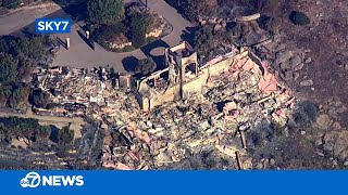 Aerial look at damage from California wildfire