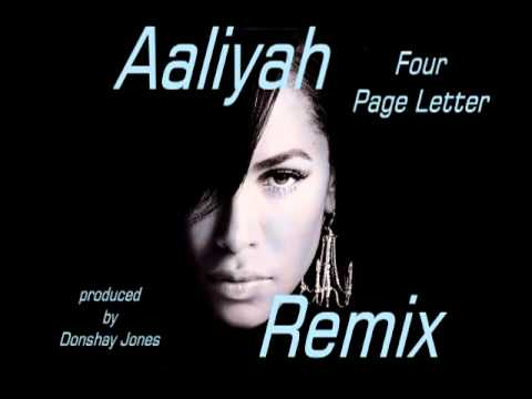 aaliyah 4 page letter the offical aaliyah remix 4 page letter 2012 new 48616