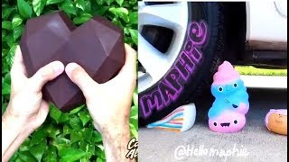 😍😍Car Crushing ASMR, slime, squishes, soap, chocolate, relaxing and satisfying