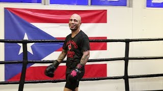 Miguel Cotto's FINAL MEDIA WORKOUT- Cotto vs Ali video thumbnail