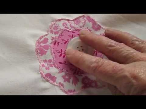 How to Sew a Simple Flower Applique - Method 1 - YouTube