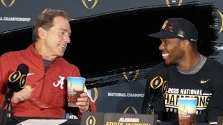 Nick Saban, Eddie Jackson, and O.J. Howard speak to media following National Championship win