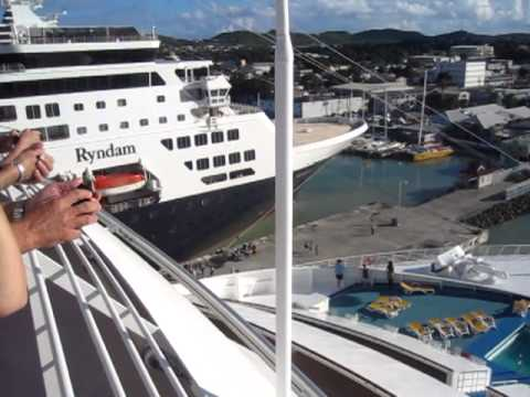 Cruise Ship Arriving in Antigua
