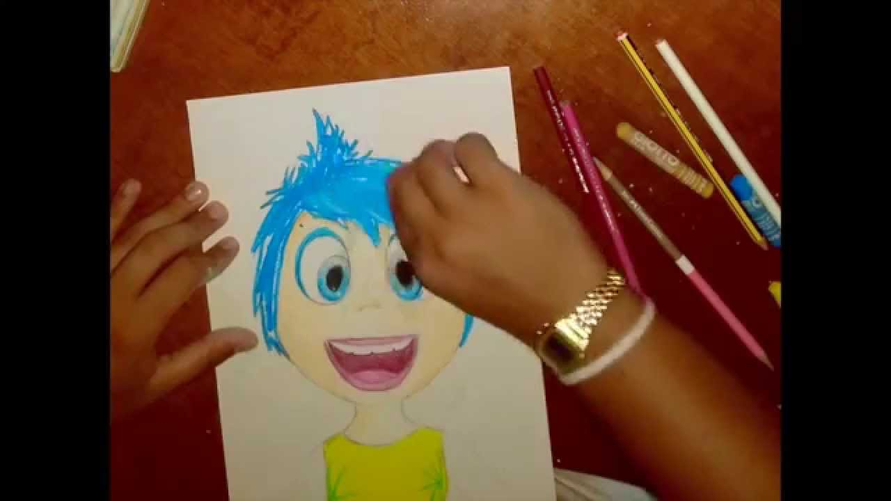 speed drawing- joy/gioia (disney inside out) - youtube