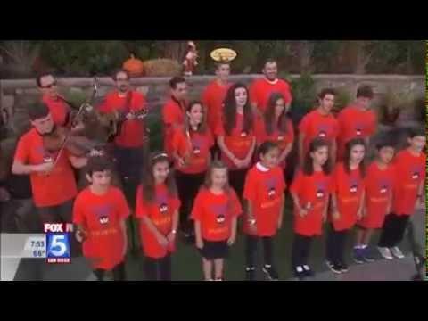 Shabbat San Diego on Fox 5 - San Diego Jewish Academy Performs
