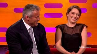 Emilia Clarke Makes Matt LeBlanc Say 'The Thing