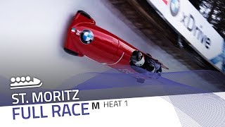 St. Moritz | BMW IBSF World Cup 2018/2019 - 4-Man Bobsleigh Heat 1 | IBSF Official
