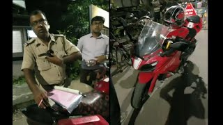 TVS Apache RR310 LED headlamps ILLEGAL | says police officer who fines motorcycle owner.