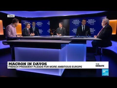 Macron in Davos: French president pleads for more ambitious