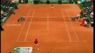 Almagro vs.  Wawrinka  6-3, 4-6, 6-3, 5-7 y 3-6