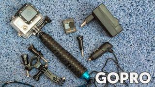 Аксессуары для GoPro Hero 2 3 3+ 4 (где купить дешево)(Посылка - аксессуары для GoPro 2 3 3+ 4 заказанные из Китая. В набор входит - 2 батареи для камер GoPro Hero 3 (Silver Edition,..., 2015-04-26T10:52:05.000Z)