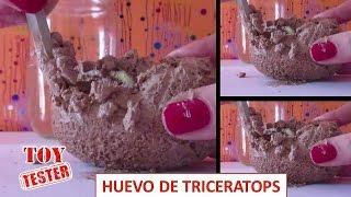 Huevo de dinosaurio de juguete Excavación Triceratops Dinosaurios para niños thumbnail