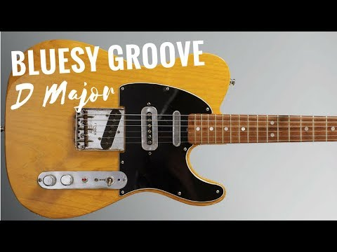 Bluesy Groove Guitar Backing Track Jam in D