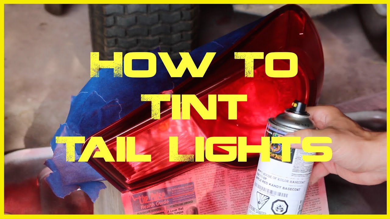 how to spray tint your tail lights tutorial diy black out red out. Black Bedroom Furniture Sets. Home Design Ideas