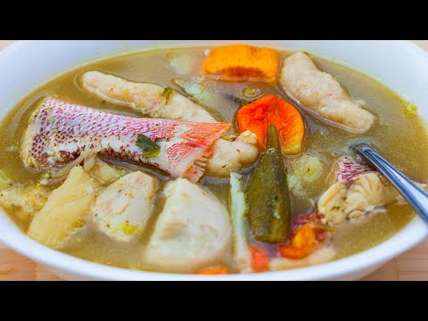 Fish Broth With Dumplings | Fish Brof | Fish Soup | Trinidad | Gluten Free Option