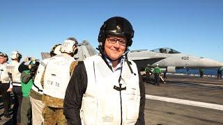 Morrison visits US Navy vessel off Qld coast