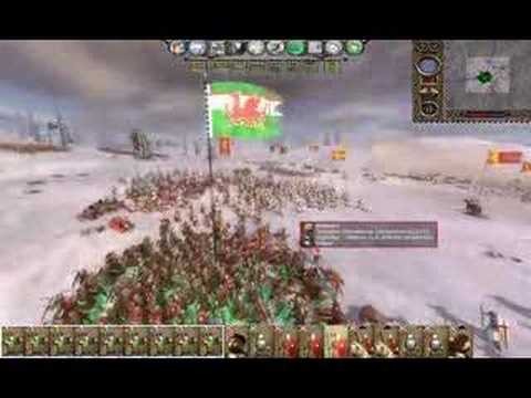 m2tw kingdoms - battle between welsh and english - YouTube