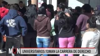 27-07-2015- 17:12 UNIVERSITARIOS TOMAN LA CARRERA DE DERECHO