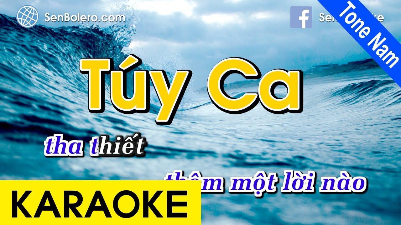 Túy Ca - Karaoke Nhạc Sống (Tone Nam)