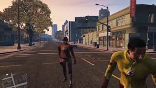 GTA 5  - Flash and Kid Flash vs  Rival