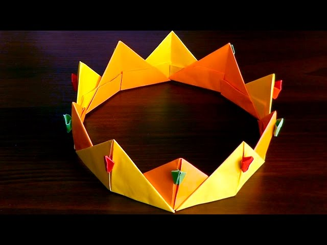 Модульное оригами корона схема