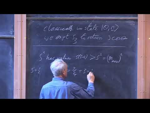 Oxford   Lecture 24 Classical Spin and Addition of Angular Momenta