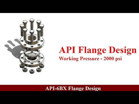 Api 6bx flange design in solidwork with actual dimensions