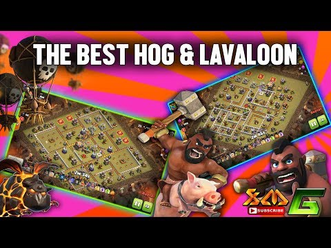 Clash of Clans⭐OP !! THE BEST HOG & LAVALOON SKILL ATTACK IN WAR BASE⭐3-STAR TH 11 !