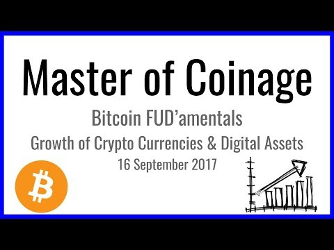 Bitcoin FUD'amentals - Growth of Crypto Currencies and Digital Assets | 16 September 2017