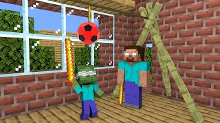 Monster School : Hitting Ball Game - Funny Minecraft Animation