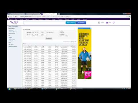 How to download historical price data from Yahoo to Excel