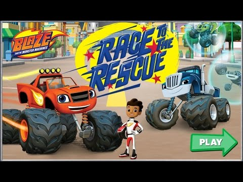 blaze and the monster machines race to the rescue car games for kids gry dla dzieci