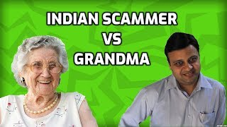 Grandma VS Indian Tech Support Scammer thumbnail