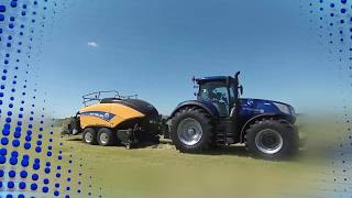 Innovation award silver @agritechnica for new holland and the baler control system t7 tractor.
