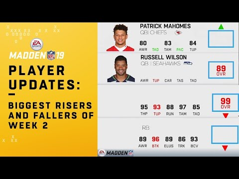 Madden 19 Week 2 Player Updates: Notable Risers & Fallers | NFL