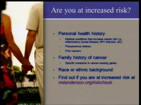 My Cancer Risk: What Do I Need to Know?