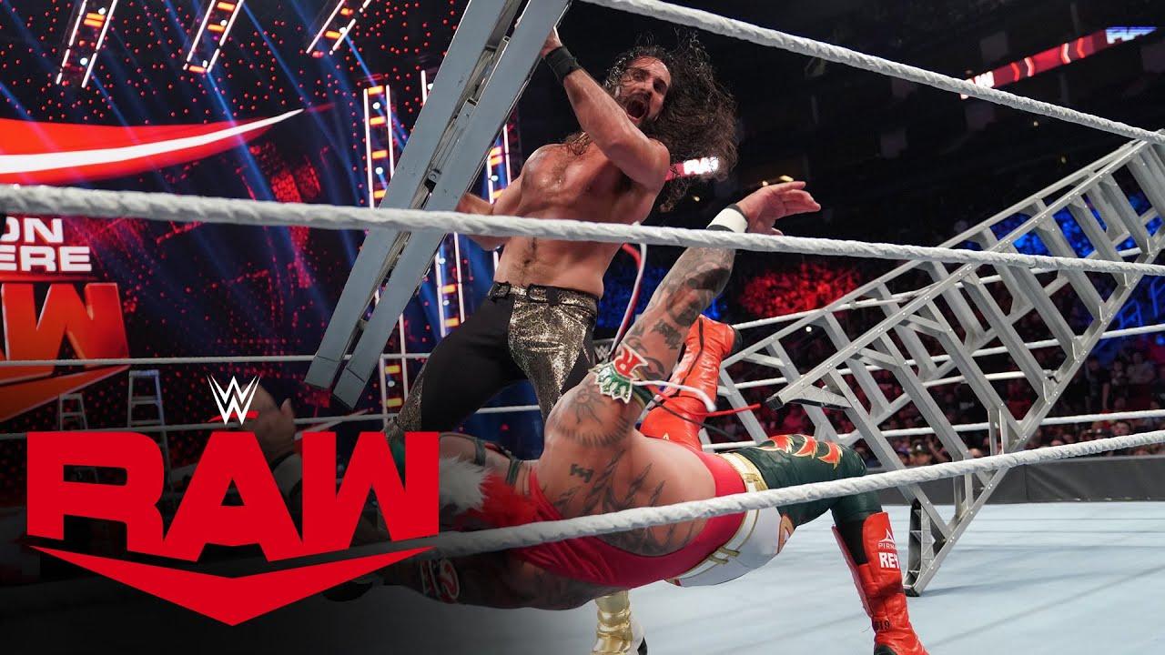 Rey Mysterio vs. Seth Rollins vs. Finn Bálor vs. Kevin Owens - Ladder Match: Raw, Oct. 25, 2021