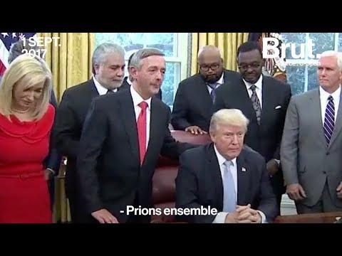 Ouragan Harvey: Donald Trump en pleine prière