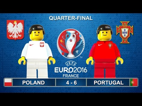 Euro 2016 Quarter-Final - Poland vs Portugal 4-6 (1-1) in Lego Football Goals and Highlights