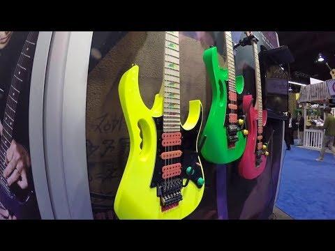 Ibanez Guitars booth NAMM 2017 with Ishibashi Music