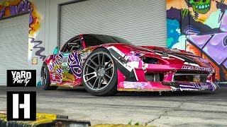 Mazda RX7 Gets Wrecked - Dumpster Donuts of Destruction