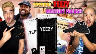 AMAZING OPENING ONLINE MYSTERY YEEZYS BOOSTER PACKS!! YEEZY 350 V2 BLACK!