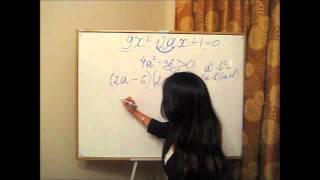 решение квадратного уравнения с параметрами