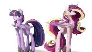 Princess Cadence and Twilight Sparkle