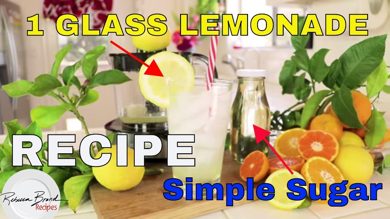 BEST RECIPE EVER:  HOW TO MAKE 1 GLASS OF LEMONADE, 1 Lemon,  SIMPLE SUGAR RECIPE   Luukmonde Juicer