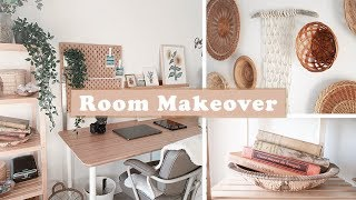 Decorate My Office With Me | How To Make A Diy Basket Wall | Thrifted Boho Home Decor