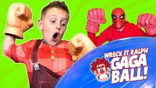 Wreck it Ralph 2 GAGA BALL Family Battle | KIDCITY