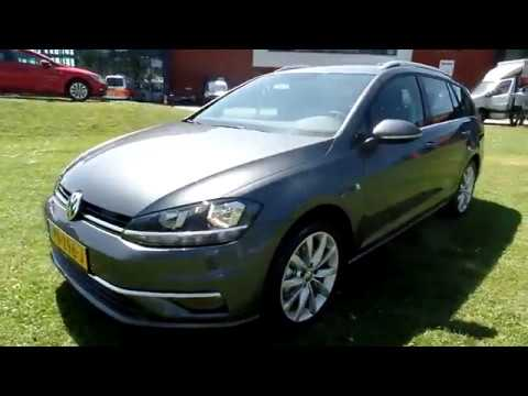 volkswagen golf variant highline gp 2017 2018 indium grey metallic 2 0 tdi 150pk youtube. Black Bedroom Furniture Sets. Home Design Ideas