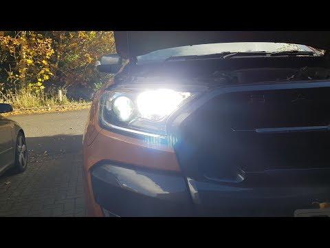 Ford Ranger H15 LED Full Beam Installation